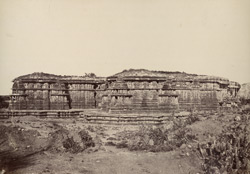 Hullabeed. General view from the south-west. [Hoysaleshwara Temple, Halebid.]